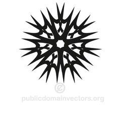 Tribal style vector star   Public domain vectors