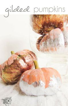DIY metallic pumpkin