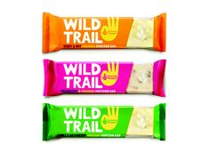 Wild Trail packaging, hand type (maybe) simple colors.