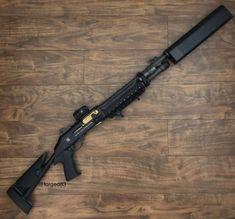 "dailygundose: "" @forged83 ・・・ By far my favorite shotgun. Show me a better one, I'll wait.  @salientarmsinternational @benelli_usa #salient #salientarms #benelli #benellim4 #shotgun #shotguns #silencerco #salvo12 #12gauge #shortbarrelshotgun #sbs..."