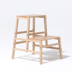 Tokyo 2010: Japanese designer Yota Kakuda presented a collection of wooden furniture at DesignTide Tokyo 2010 earlierthis month. Called Tenon, the pieces are joined by slotting together the mortise into the recessed tenonjoints. The range includes an armchair, shelving unit, side table and a little step ladder. Read all our stories on Tokyo 2010 in