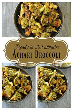 Broccoli cooked in aromatic achari spices, this tangy Achari Broccoli is super delicious and can be paired with either rotis, or hot rice. The distinct flavour of the broccoli when cooked with fresh spices and the hit of the aamchoor gives it a kick that is unmatchable!