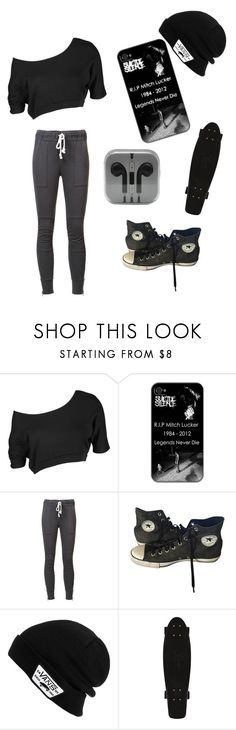 """Untitled #186"" by lexaguilbert ❤ liked on Polyvore featuring NSF, Converse and Vans"