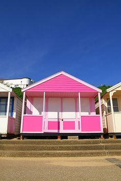 Beach Huts in Suffolk