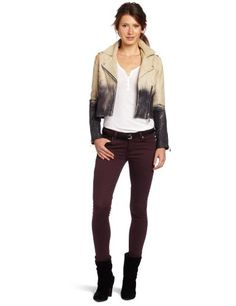 Doma Women's Ombre Leather Jacket $356.17