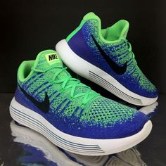 c8ea7346f55 Details about Nike Mens Lunarepic Flyknit 2 Trainers Blue size 10 EU 45  Running Sneakers US 11