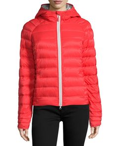 CANADA GOOSE Brookvale Quilted Hoodie Puffer Jacket. #canadagoose #cloth #