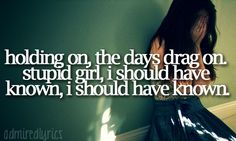 Holding on, the days drag on. Stupid girl, I should have known, I should have known. White Horse Lyrics, Lyric Quotes, Life Quotes, Country Lyrics, Country Music, Stupid Girl, Taylor Swift Quotes, My Demons, She Song