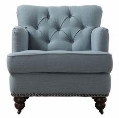 Charlotte Lagoon Linen Chair