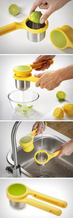 The Helix Citrus Juicer beats all other juicers and squeezers because unlike other products that use compression to squeeze the lemon, the Helix uses torsion, making it much more effective, the same way a workshop clamp uses a helix to clamp down on something. Buy Now!