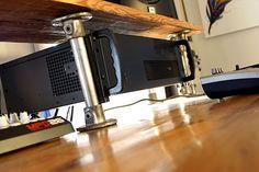 Reclaimed Wood DIY Studio Desk  #homestudio #reclaimedwood #pipedesk #studiodesk