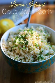 Lemon Infused Pearl Cous Cous from the Girl and the Kitchen