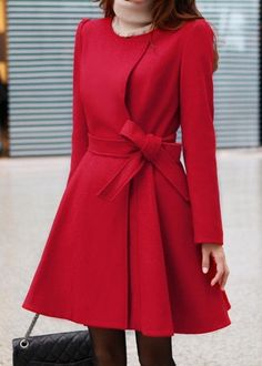 Red wool jacket women coat women jacket women by fashiondress6, $88.00