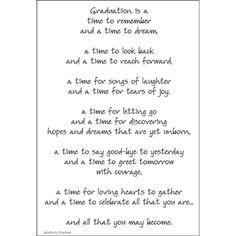 Graduation - Poem