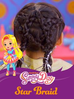 Parents can get inspiration from Nick Jr.'s new show, Sunny Day, when doing their kids' hair! This star braid kids hairstyle is easy to recreate and will be a showstopper on any child!