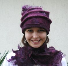 Felt Hat and Scarf