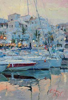 Yacht and Boat Painting by Oleg Trofimov ( Russian Artist ) artistsandart.org