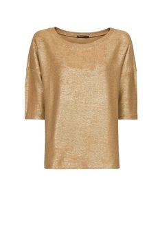 MANGO - Metallic cotton sweatshirt
