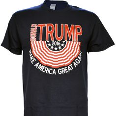 Donald Trump for President 2016 Flag on Navy Short Sleeve T Shirt