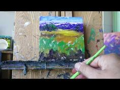 Palette Knife Painting, free tutorial, Mountain Meadow