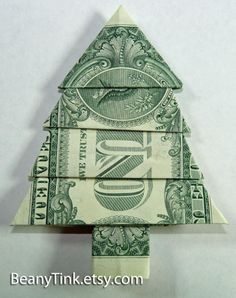 Money origami christmas gifts