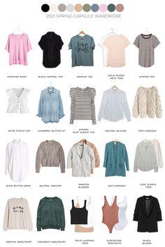 2021 Spring Capsule Wardrobe   + 32 outfit ideas Minimal Wardrobe, Spring Outfits Women, Minimalist Fashion, Capsule Wardrobe, Fashion Outfits, Fashion Tips, Spring Summer Fashion, Outfit Ideas, Style Inspiration
