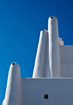 Chimneys, Santorini Architecture