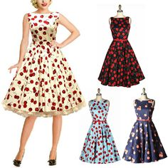 50's dress paterns | ... Pattern Word Collar Pinup Rockabilly Party Birthday Prom Swing Dress