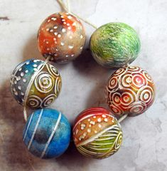 Multicolored Beads | Polymer Clay Beads www.etsy.com/listin… | Flickr - Photo Sharing!