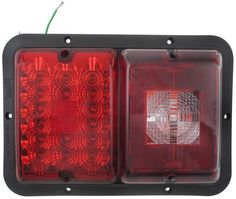 Truck trailer rv tail brake turn signal red led light auto auto bargman led recessed double tail light 84 85 series red led aloadofball Images