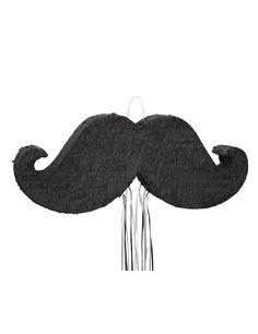 Piñata bigote: Esta piñata de cartón representa un bigote.Está cubierta de flecos de papel negro.Mide alrededor de 76 cm de largo, 29 cm de alto y 10 cm de ancho.Instrucciones: rellena la...