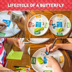 Fun hands on learning ideas for teaching kids all about the life cycle of a butterfly. A perfect spring unit. Rainy Day Activities, Toddler Learning Activities, Learning Resources, Teaching Kids, Nature Activities, Science Activities, Mother Goose Time, Butterfly Life Cycle, How To Start Homeschooling