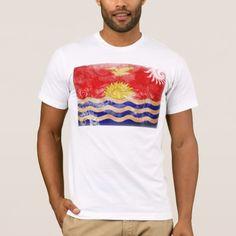 Shop Kiribati Flag T-Shirt created by Zipperedflags. Kiribati Flag, Flag Design, American Apparel, Flags, Kids Outfits, Fitness Models, Mens Tops, T Shirt, How To Wear
