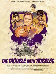 """Se l'episodio """"Animaletti pericolosi"""" di Star Trek fosse un film... ecco il manifesto"""