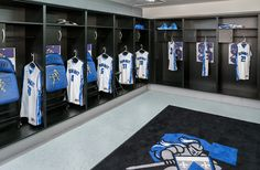 Laminate casework lockers for boys basketball team by HAMILTON