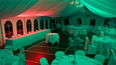 Orange and green wedding lights, On Your Wedding at DJ MAGOO we let you select your room to be any colour you want!