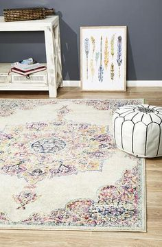 Shop for transitional and distressed style rugs. We have multiple sizes available. Rugtastic offers modern rugs that are dispatched in business days from Sydney and Melbourne. Trendy Colors, Vivid Colors, Colours, Prado, Kendall, Bohemian Design, Bohemian Style, Boho, Polypropylene Rugs