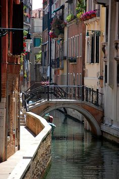 Venetian canal,Venice,Italy Have been there, would love to go back and spend more time.
