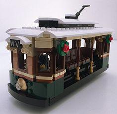 Winter Village Tram - Lego® Parts & Instructions Kit LEGO