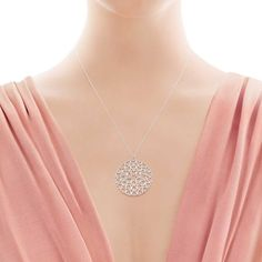 Paloma's Crown of Hearts medallion in sterling silver.