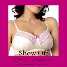 89f7a79a8ef99 So pretty this velvet pink and vanilla Hotmilk maternity bra. Show Off is  now on