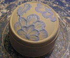 """Fine Mess Pottery - My first effort at """"slip embroidery."""""""