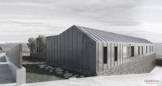 Díaz y Díaz Arquitectos. A Coruña Galicia. Vivienda unifamiliar diseño. Cubierta / Zinc - stone - wood. Roof. Facade. Family house. Design architecture.