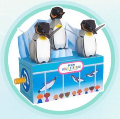 Epson Aqua Stadium Dancing Penguin Papercraft and Penguin Hat