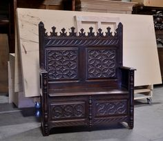 French gothic hall bench