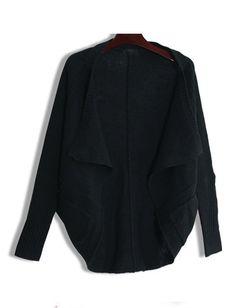 Black Bat Sleeve Cashmere Sweater$39.00