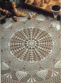 Crochet 'Pineapple Go Round' Doily ~ Free pattern and graph….