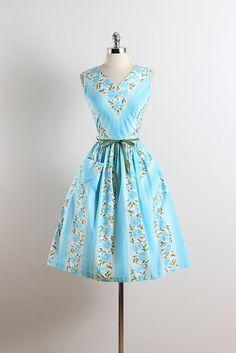 Prinses Peggy. Vintage jaren 1950 jurk. 50s zomer jurk. 5677