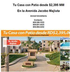 Tu Casa con Patio desde $2,395 MM  809.596.3555 - Publicidad
