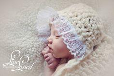 PDF CROCHET PATTERN 046 - Handspun vintage bonnet - Size newborn. $4.50, via Etsy.